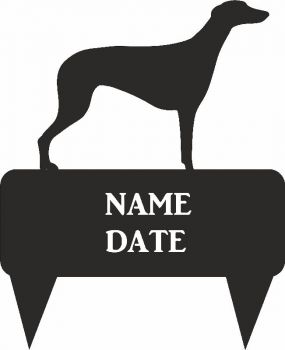 Grey Hound Rectangular Memorial Plaque - Regular