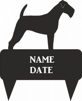 Irish Terrier Rectangular Memorial Plaque - Regular