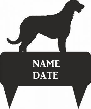 Irish Wolf Hound Rectangular Memorial Plaque - Regular