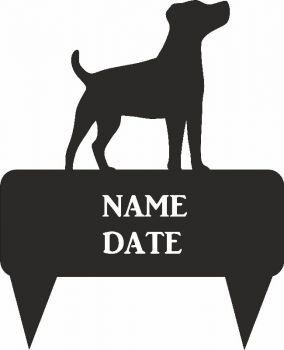 Jack Russell Rectangular Memorial Plaque  - Regular