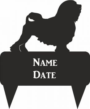 Lowchen Rectangular Memorial Plaque - Regular