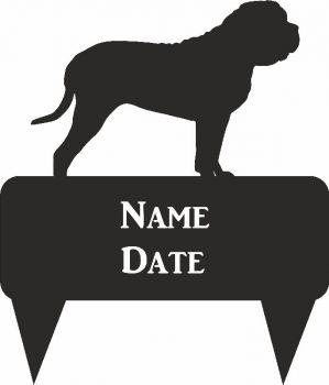 Mastiff Rectangular Memorial Plaque - Regular