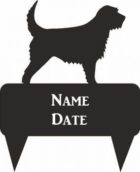 Otter Hound Rectangular Memorial Plaque - Regular