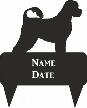 Portuguese Water Dog Rectangular Memorial Plaque  - Regular