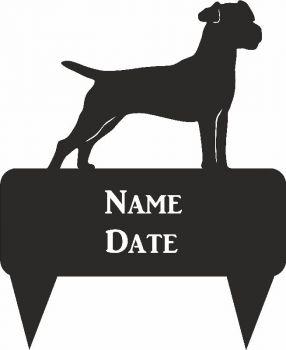 Patterdale Terrier Rectagular Memorial Plaque - Regular