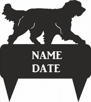 Pyrenean Sheep Dog Rectangular Memorial Plaque - Regular