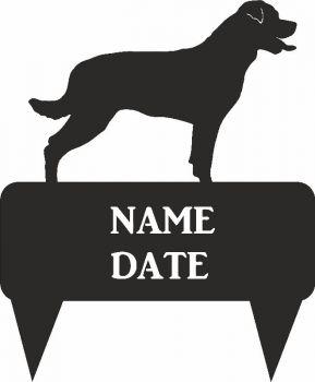 Rottweiler Rectangular Memorial Plaque - Regular