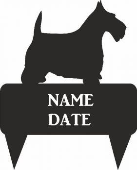 Scottie Dog Rectangular Memorial Plaque - Regular