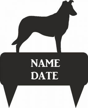 Smooth Coated Collie Rectangular Memorial Plaque  - Regular
