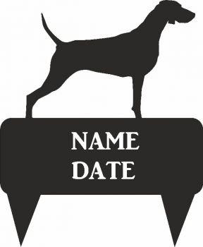 Weimaraner Rectangular Memorial Plaque - Regular