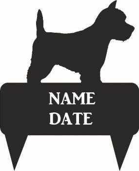 Westie Rectangular Memorial Plaque - Regular