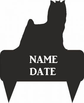 Yorkshire Terrier Rectangular Memorial Plaque - Regular