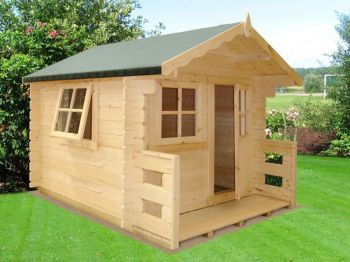 Salcey Mini Log Cabin Playhouse Children's Wendy House