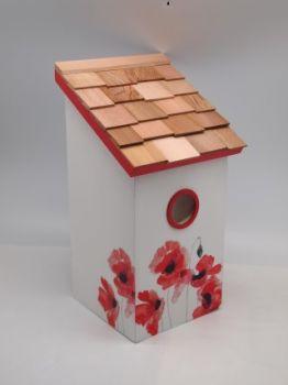 Salt Box Poppy Birdhouse