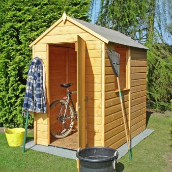 Shetland Single Door Tongue and Groove Garden Shed Workshop Approx 6 x 4 Feet