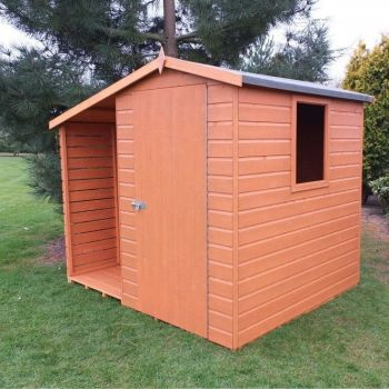 Shed and Log Store 7' x 6' Dip Treated Single Door with One Opening Window