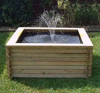 120 Gallon Square Pond With Pump