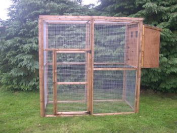 Buttercup Standard Outdoor Bird Aviary or Pet Cage 6' x 6' x 6' with nestbox