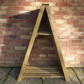 "Small Triangular 2' 8"" x 1' 4\"" Overlap Pressure Treated Log Store"