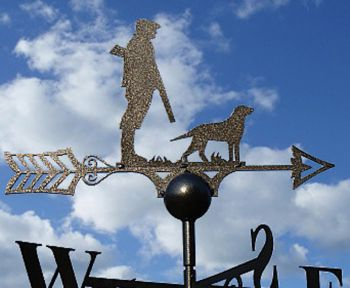 Man And Dog Weathervane