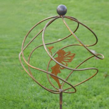 Tangle Ball On 4ft Stem With Standing Fairy