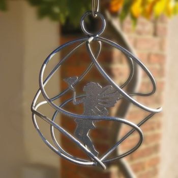 Fairy Catcher With Standing Fairy Silver