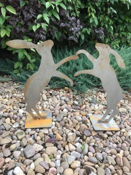 Fenland Hare's with Base x 2 (Large)(Rust)