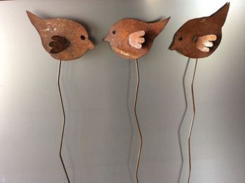 3 Birds On A Stake (Set of 3)