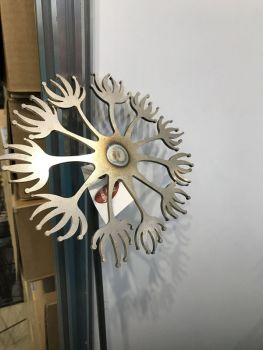 Dandelion Pin Support 5ft (Bare Metal/Natural Rust)