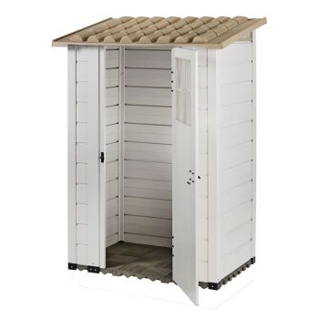 "Tuscany Evo 4' x 2'6"" 100 Plastic Garden Storage Shed Single door"
