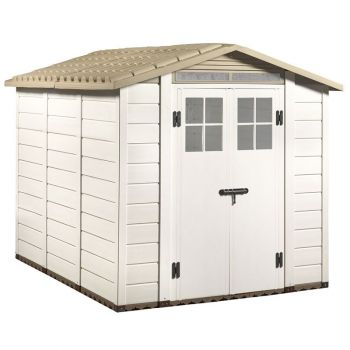 "Tuscany Evo 6'6"" x 8' 240 Apex Plastic Shed Double Door with Two Perspex Windows"