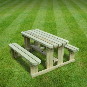 Tinwell Junior Rounded Picnic Bench 4ft Light Green