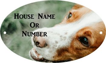 Dog Head Full Colour Printed Metal House Plaque UV - Large