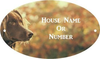 Dog Head Full Colour Printed UV Metal House Plaque - Large