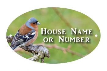 British Birds Chaffinch Full Colour Printed Metal UV House Plaque - Large
