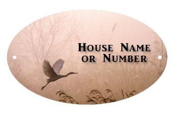 Little Egret Bird UV Printed Metal House Plaque - Large