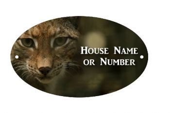Lynx Bobcat UV Printed Metal House Plaque - Large