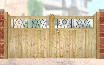 Windsor Low Driveway Double Gate 300cm Wide x 120cm High