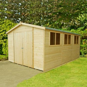 Workspace DD Tongue and Groove Garden Shed Workshop Approx 10 x 15 Feet