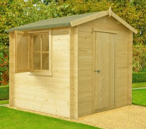 Camelot Log Cabin Home Office Garden Room Approx 7 x 7 Feet