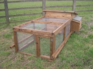 Poultry House with Run for Ducks